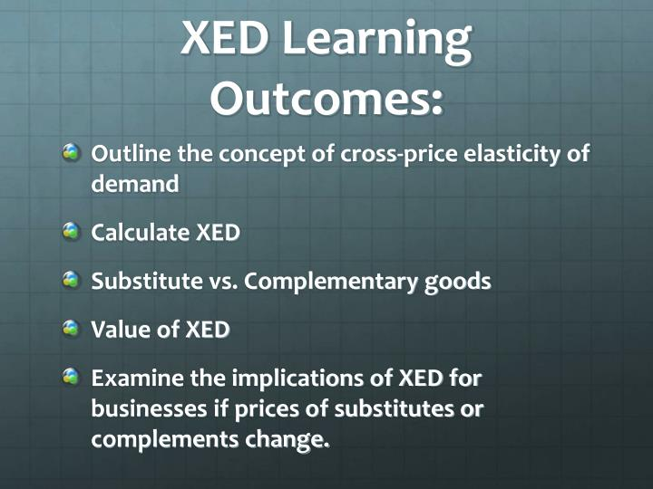 XED Learning Outcomes:
