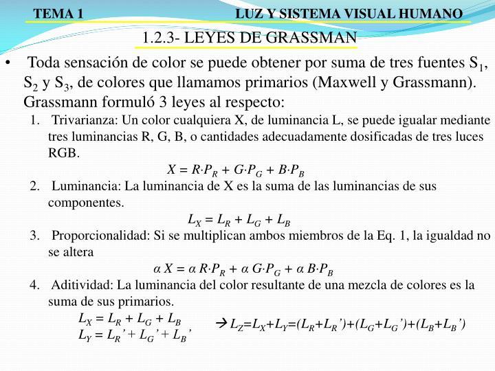 1.2.3- LEYES DE GRASSMAN