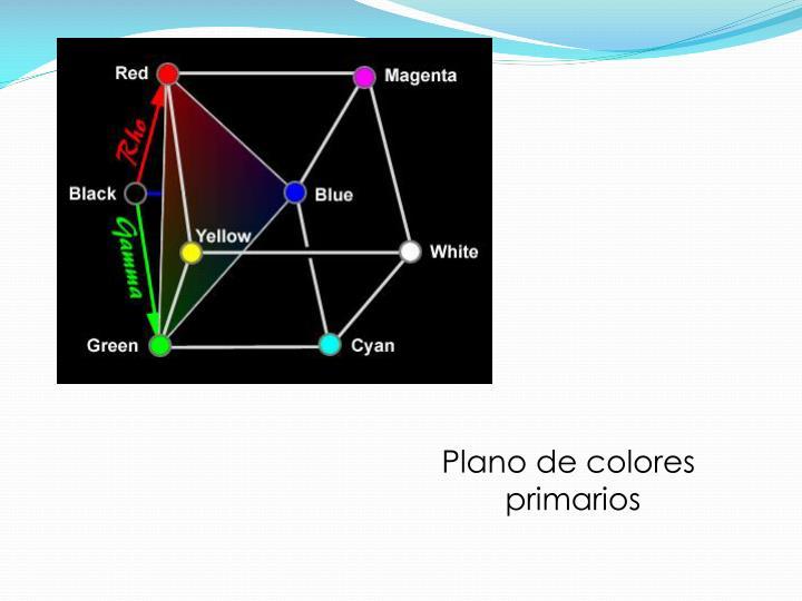 Plano de colores