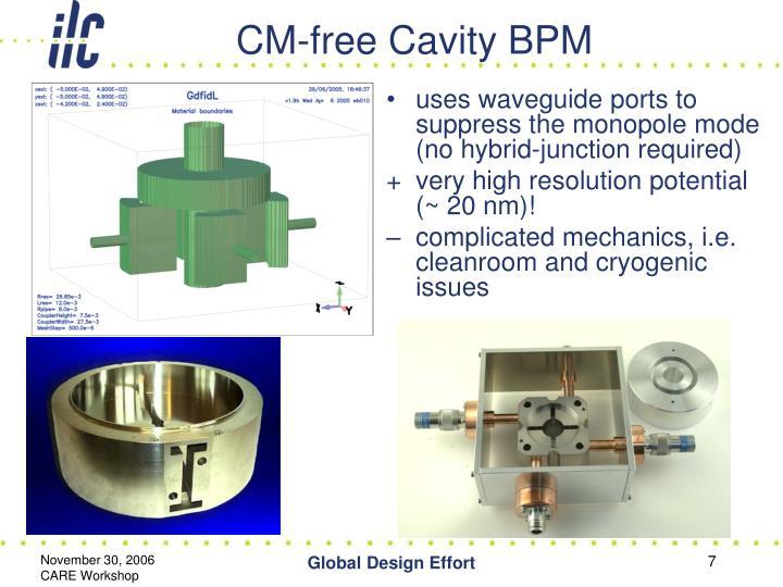 CM-free Cavity BPM