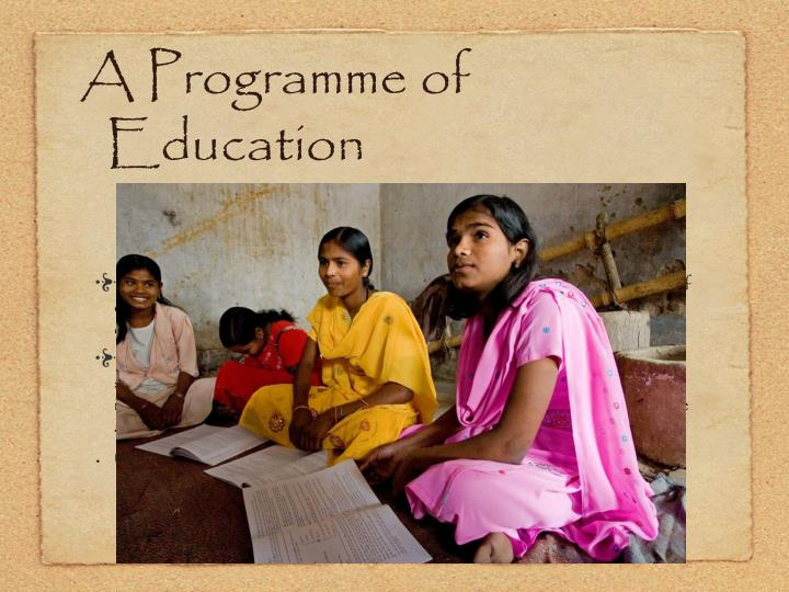 A Programme of Education