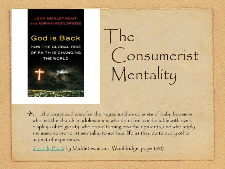 The Consumerist Mentality
