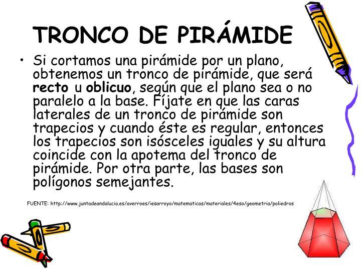 TRONCO DE PIRÁMIDE