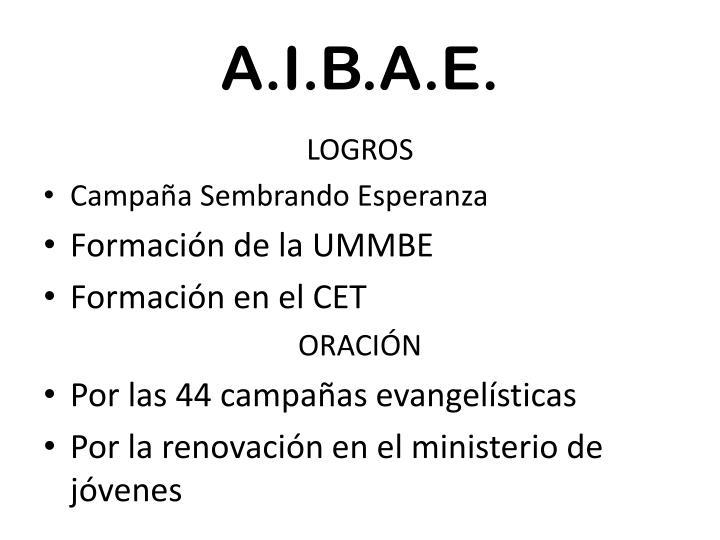 A.I.B.A.E.