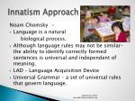 innatism approach