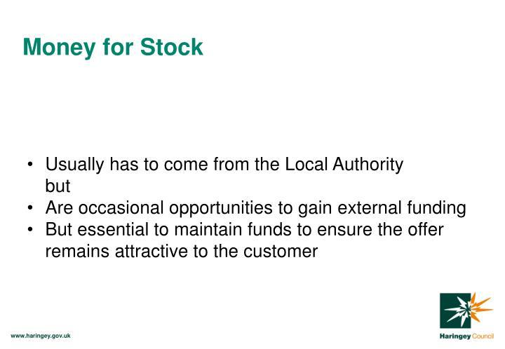 Money for Stock