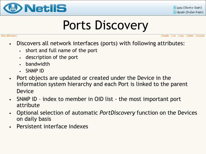 Ports Discovery