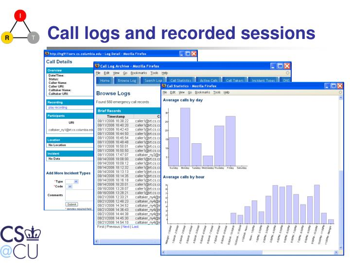 Call logs and recorded sessions