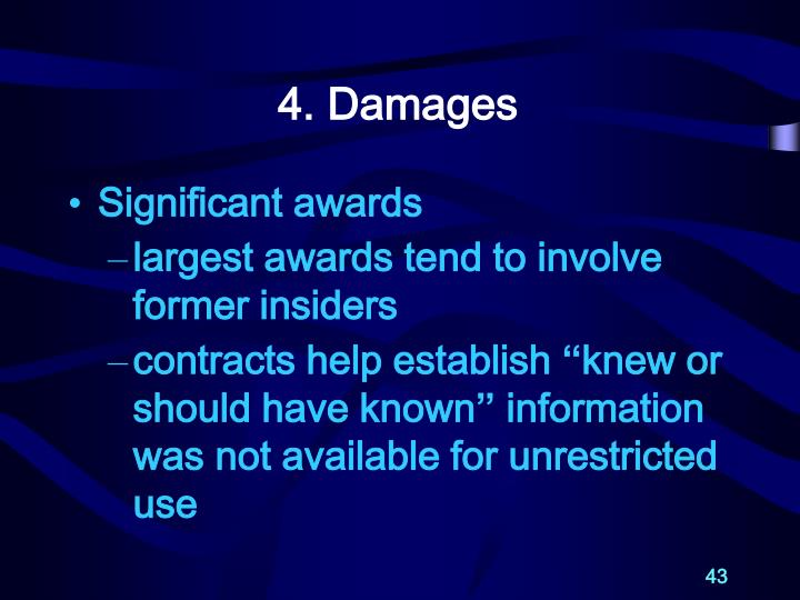 4. Damages