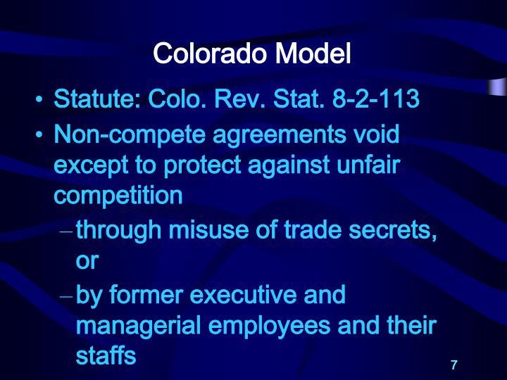Colorado Model