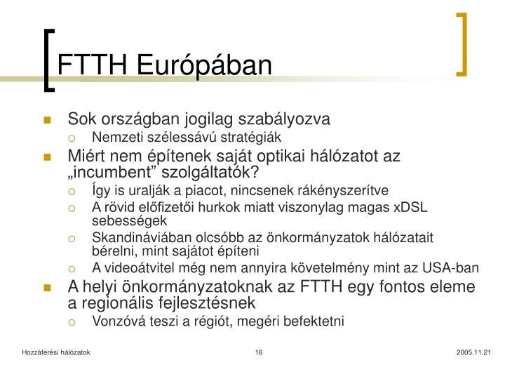 FTTH Európában