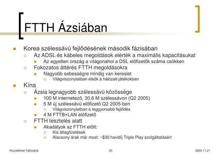 FTTH Ázsiában