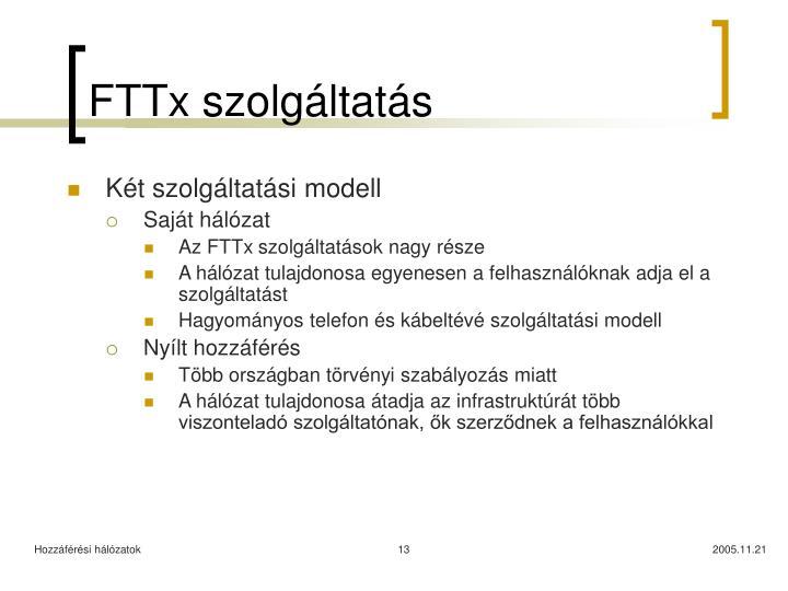FTTx szolgáltatás