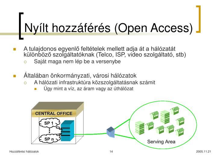 Nyílt hozzáférés (Open Access)