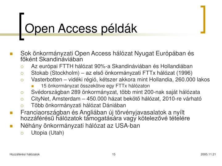 Open Access példák
