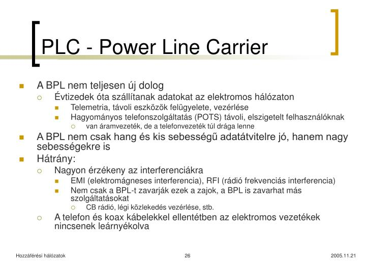 PLC - Power Line Carrier
