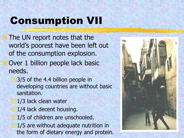 Consumption VII