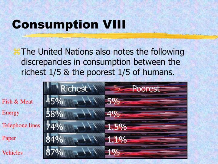 Consumption VIII