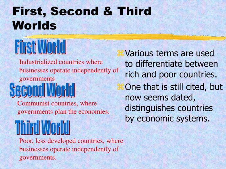 First, Second & Third Worlds