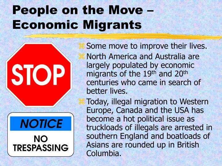 People on the Move – Economic Migrants