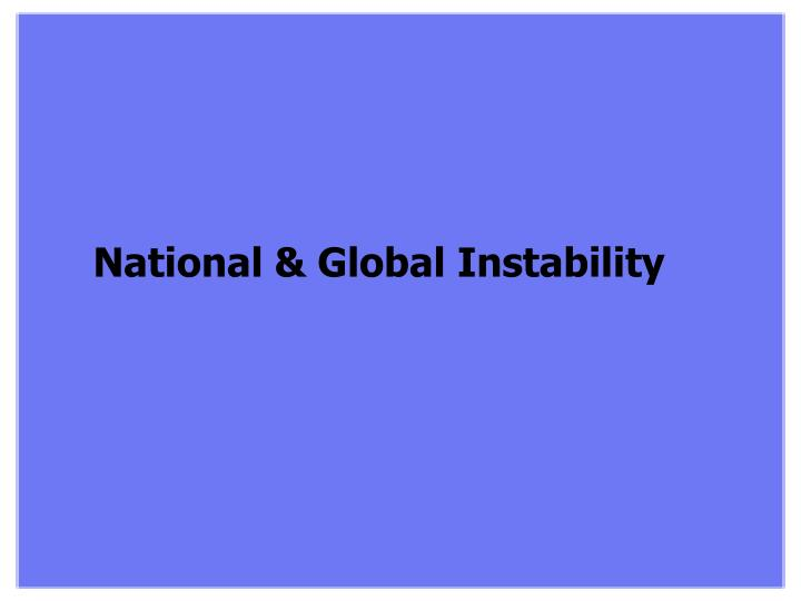 National & Global Instability