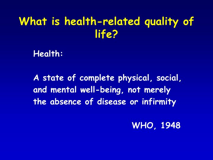 What is health-related quality of life?