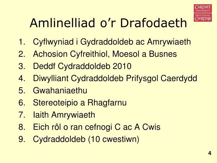 Amlinelliad o'r Drafodaeth