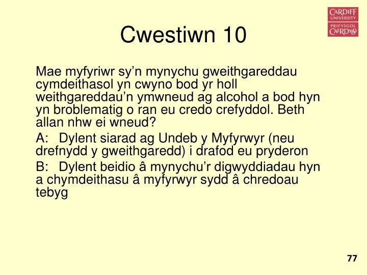 Cwestiwn 10