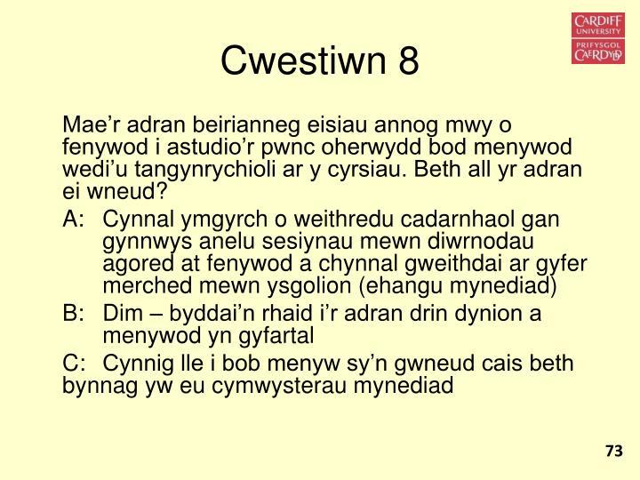 Cwestiwn 8