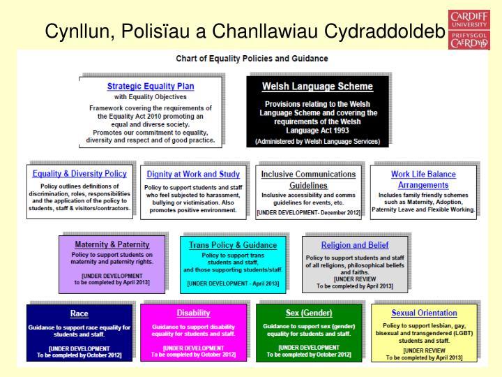 Cynllun, Polisïau a Chanllawiau Cydraddoldeb
