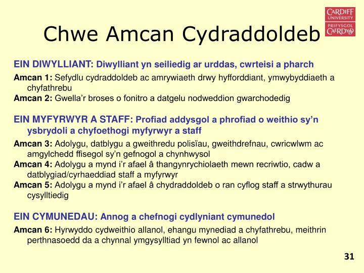 Chwe Amcan Cydraddoldeb