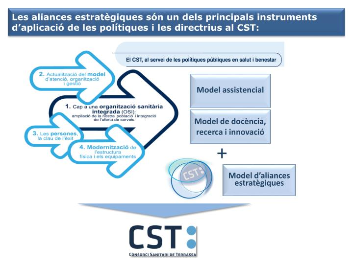 Les aliances estratègiques són un dels principals instruments d'aplicació de les polítiques i les directrius al