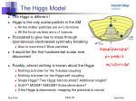the higgs model