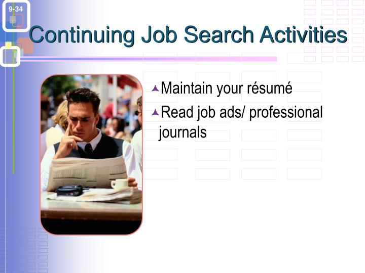 Continuing Job Search Activities