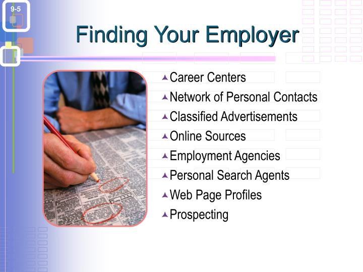 Finding Your Employer
