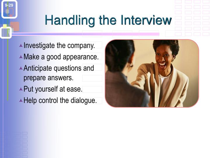 Handling the Interview