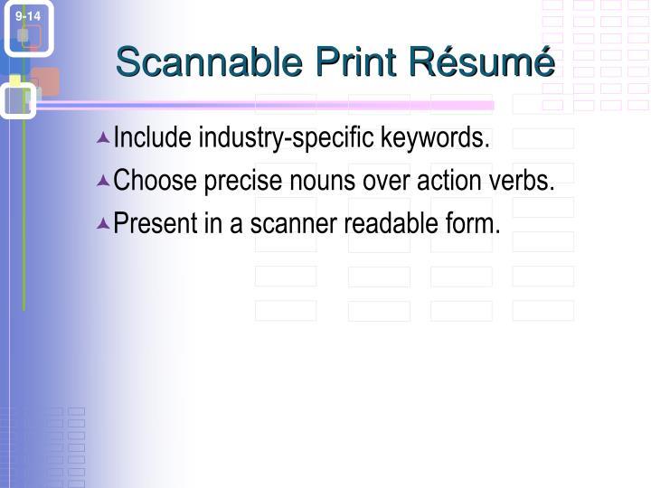Scannable Print Résumé