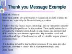 thank you message example