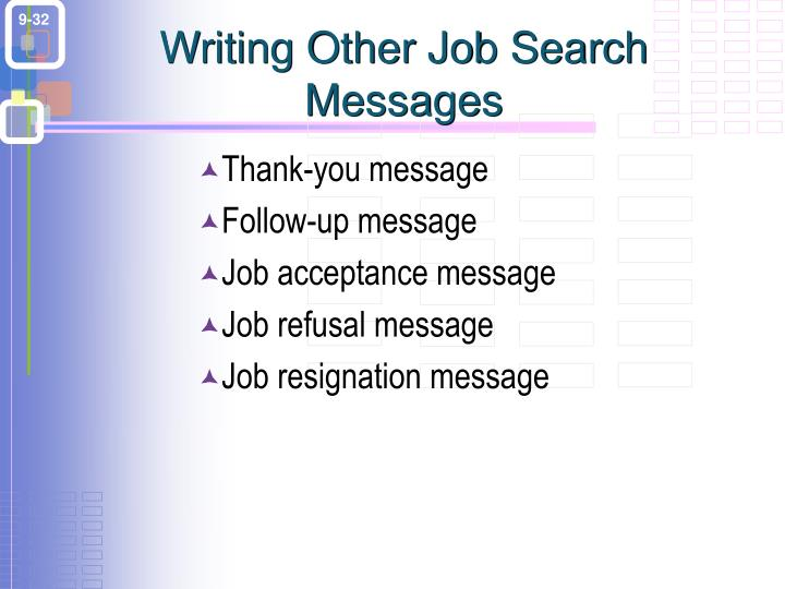 Writing Other Job Search Messages