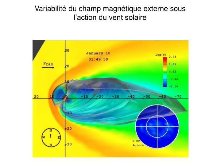 Variabilité du champ magnétique externe sous l'action du vent solaire