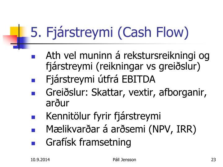 5. Fjárstreymi (Cash Flow)