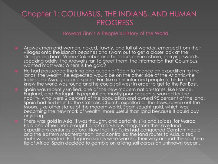 columbus the indians and human progress summary