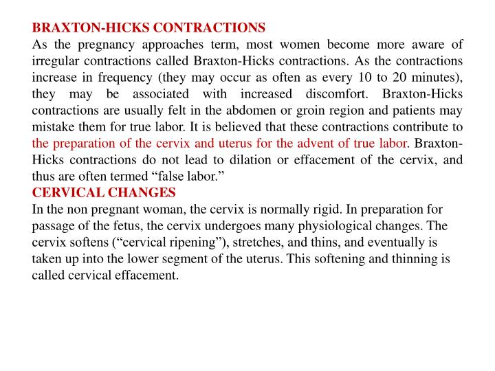 BRAXTON-HICKS CONTRACTIONS