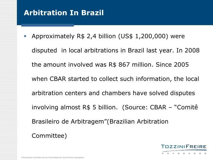 Arbitration In Brazil