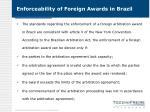 enforceability of foreign awards in brazil1