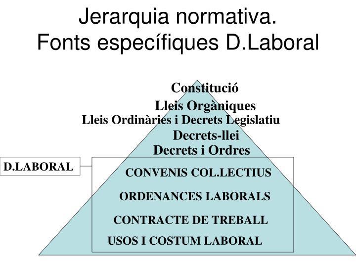 Jerarquia normativa.