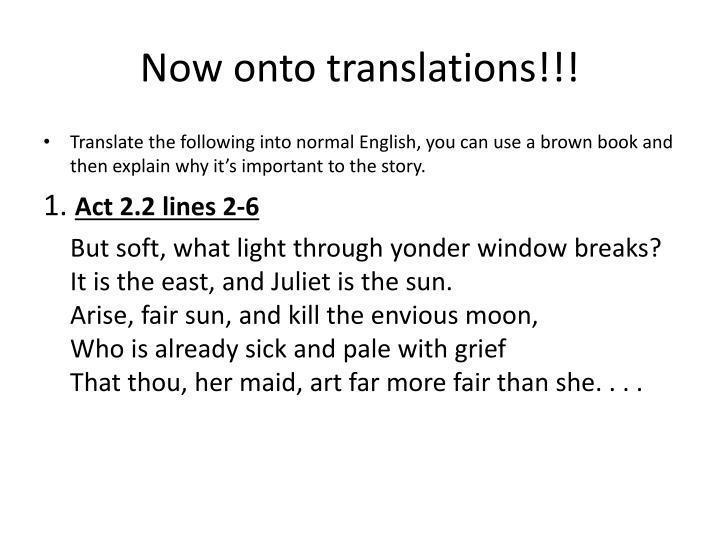 Now onto translations!!!