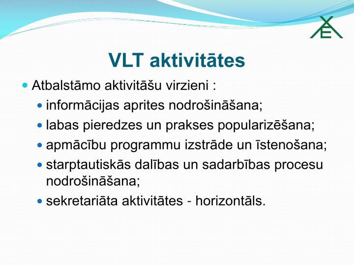 VLT aktivitātes