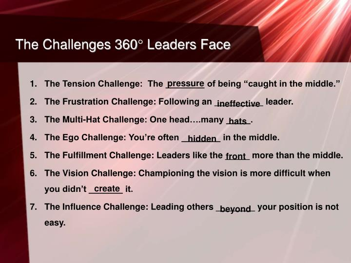 The Challenges 360