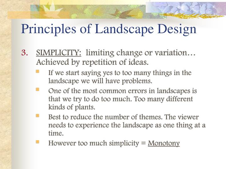 Landscape design principles powerpoint home design ideas for Garden design principles